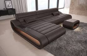 sectional couches. Interesting Couches Luxury Sectional Sofa Concept L Short With LED Lights  Darkbrown On Couches
