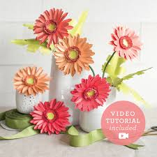 Daisy Paper Flower Paper Gerbera Daisy Flower Kit By Lia Griffith Shop Lia Griffith