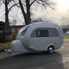 Used barefoot caravan for sale Usa Ermintrude Goes Off To Her New Home Today Beneath Watery Sun New Owners Barry And Usa Today Barefoot Caravan Prices Barefoot Caravans Made In England