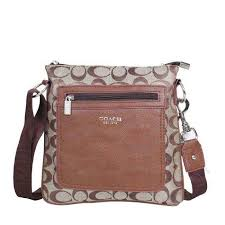 Coach Bleecker Monogram Small Khaki Crossbody Bags DQE Will Give You Most  Wonderful Feeling Every Day