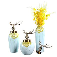 vases with lid new house modern dining room decoration ceramic tabletop big flower vases with lid