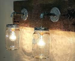 mason jar lighting fixtures how to make