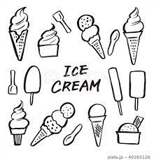 アイスクリーム ソフトクリーム 素材のイラスト素材 40165126 Pixta