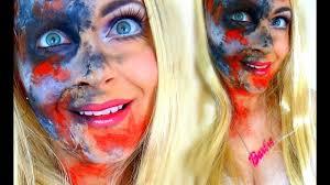 zombie barbie makeup tutorial zombarbie