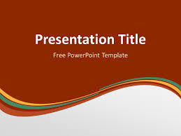 Dark Green Powerpoint Background Orange Green Wave Powerpoint Template Abstract Powerpoint