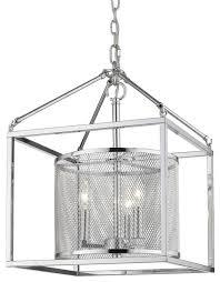 london 3 light pendant no cage chrome