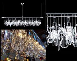 linear crystal chandelier. Broadway Linear Crystal Chandelier By James R. Moder E