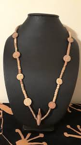 terracotta clay beaded fish pendant necklace