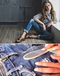 how to make ripped jeans se or bleach off