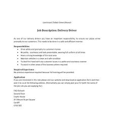 Delivery Driver Job Description For Resume Warehouse Delivery Driver Job Description In Pdf Categories for Cdl 1