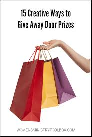 15 Creative Ways To Give Away Door Prizes Womens Ministry Toolbox