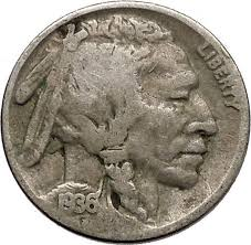 1936 Buffalo Nickel 5 Cents Of United States Of America Usa