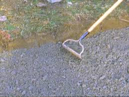 make sure patio slope is consistent with gravel