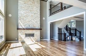 Vaulted ceiling means stone to ceiling fireplace, right?! How amazing is  this Prostack