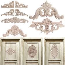 wood appliques for furniture. wood carved corner onlay applique unpainted frame decal for home furniture decor appliques p