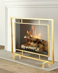 view in gallery shay glass fireplace screen
