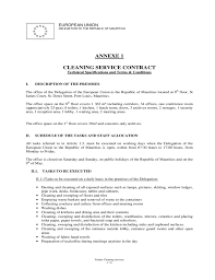sample cleaning contract agreement cleaning services resume housemaid resume by doc8001035 custodian