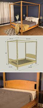 How to Build a DIY Canopy Bed | Free printable project plans on ...