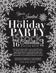 holiday party invitation template snowflake holiday party invitation template blue stock vector