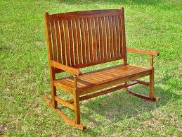 outdoor rocking bench 2 person outdoor wood rocker rocking bench seat chair for patio outdoor rocking outdoor rocking bench