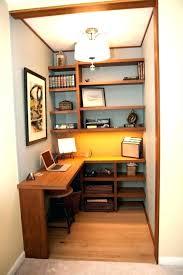 interior closet desk ideas amazing 15 closets turned into space saving office nooks with regard