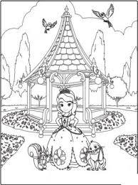 Coloriage A Imprimer Princesse Sofia Et Ses Amis Au Parc Gratuit