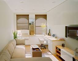 ... Large Size Narrow Living Room Idea With Long Sofa And Space Saver  Intended For Small Saving ...