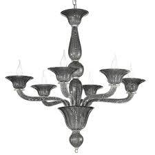 Kronleuchter Aus Schwarz Silber Kunstglas Mit 6 Lichter Artital Lighting Home Design