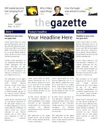 Newspaper Article Template For Pages Front Page 4 Column Tabloid Article Template Free Newspaper