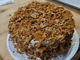 The coffee is also used to make the icing. Coffee Crunch Cake The Cakery