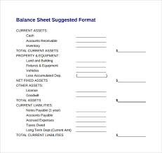 Microsoft Excel Balance Sheet Templates Sample Balance Sheet 20 Documents In Word Pdf Excel