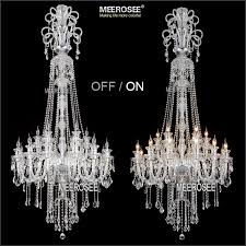 meerosee led crystal chandelier light diamond ring pendant led pertaining to contemporary residence led crystal chandelier lighting decor