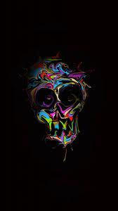 Download Glitch art, colorful, skull ...