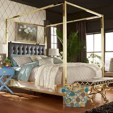 Solivita Full-sized Canopy Gold Metal Poster Bed by iNSPIRE Q Bold - Free  Shipping Today - Overstock.com - 17498602