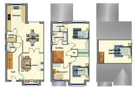 house plan detached plans uk design bedroom semi detached a modern housing development townhouse duplex