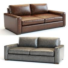 maxwell leather sofa 3d model