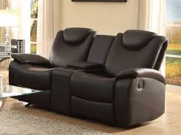 epic double recliner sofa with console 44 for your sofa table ideas