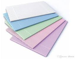 <b>125PCS Dental Barrier Sheets</b> 3-Ply 5 Colors Cheap Disposabe