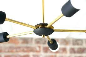 sputnik chandelier black gold lights geometric fixtures ceiling fixture brass modern and