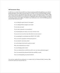 self assessment essay sample examples in word pdf personal self assessment essay