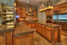 Small Picture Color of Cabinets Traditional Medium Wood Golden Kitchen Cabinets