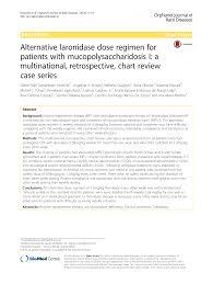 Alternative Laronidase Dose Regimen For Patients With