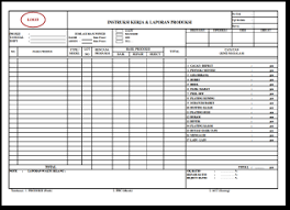 Work Instructions Production Report 2 Download
