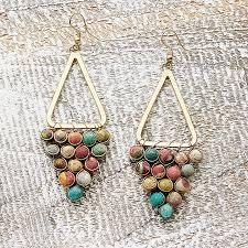 kantha chandeliers earrings