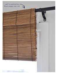 valance using a matchstick blind as a faux shade