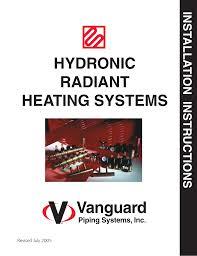 In Slab Radiant Heating Design Viega Vanguard Pex Radiant Heat Manualzz Com