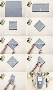 Table Setting Tips: 3 Menu Napkin Folds - Gift \u0026 Favor Ideas from ...