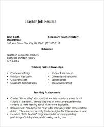 teacher job resumes 25 teacher resume templates in word free premium templates