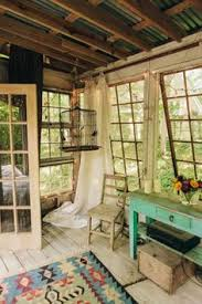 tree house decorating ideas. Rustic Tree House Living In Atlanta, Georgia With Exposed Ceiling, Vintage Paned Windows, And Muted Colors Decorating Ideas O