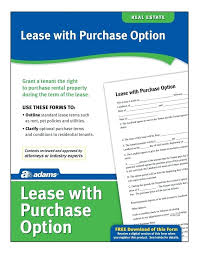 Template: Lease Option Contract Template